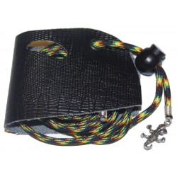 Lizard Leash - Black Snake Skin - MD (Drag-a-Longs)