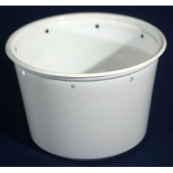 16 oz White Deli Cups - Punched - 500ct (Pro-Kal)