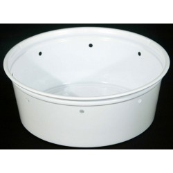 8 oz White Deli Cups - Punched - 100ct (Kal-Tainer)