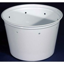 16 oz White Deli Cups - Punched - 500ct (Kal-Tainer)