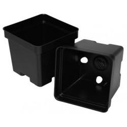 """Black Square Plant Pots - 4"""""""