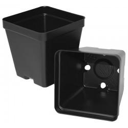 """Black Square Plant Pots - 3.5"""""""