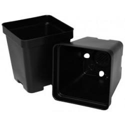 """Black Square Plant Pots - 3.25"""""""