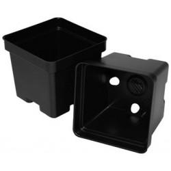 """Black Square Plant Pots - 4.5"""""""