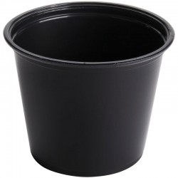 Portion Cups - Black - 5.5 oz