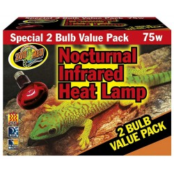 Infrared Heat Lamp - 2 Bulb Value Pack - 75w (Zoo Med)