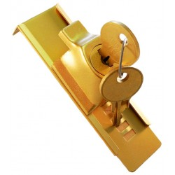 Sliding Cage Lock - Stick-On - GOLD (RSC)
