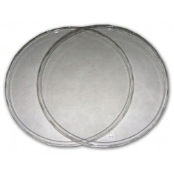 "Clear Deli Cup Lids - 9.75"" (PWP)"