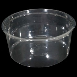 "6.75"" Clear Deli Cup - 48 oz -Punched (PWP)"