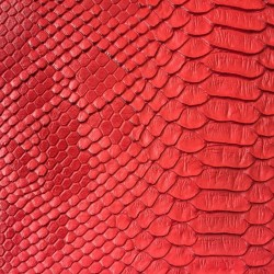 Faux Leather Snakeskin - Red (RSC)
