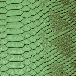 Faux Leather Snakeskin - Green (RSC)