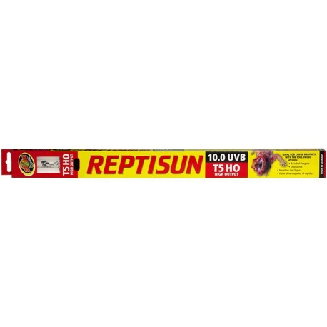"ReptiSun 10.0 UVB T5 HO Fluorescent - 12"" (Zoo Med)"