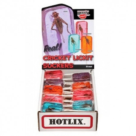 Cricket Lick-it Suckers - 1 Box (HOTLIX)