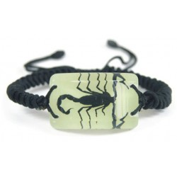 Bracelet - Black Scorpion (Glow-in-the-dark)
