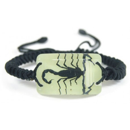 Bracelet - Black Scorpion (Glow-in-the-dark)