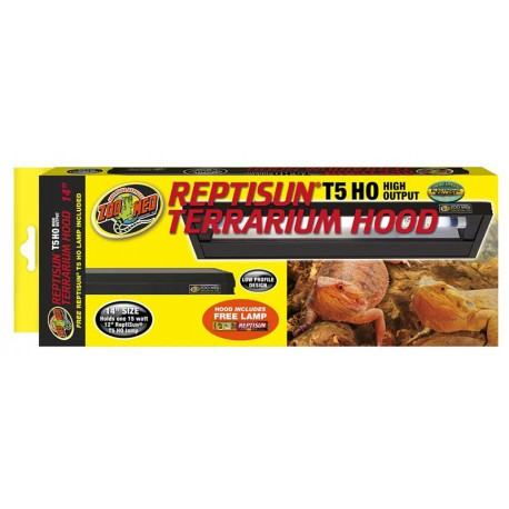 "ReptiSun Terrarium Hood T5 - 14"" (Zoo Med)"
