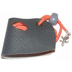 Lizard Leash - Gray Perforated - MD (Drag-a-Longs)