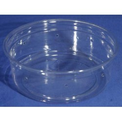 8 oz Crystal Clear Deli Cups - Punched - 100ct (pinnPACK)