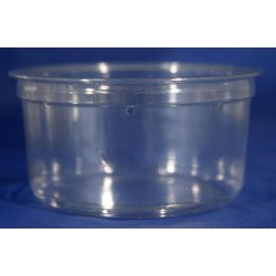 12 oz Crystal Clear Deli Cups - Punched - 100ct (pinnPACK)