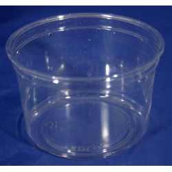 16 oz Crystal Clear Deli Cups - Punched - 100ct (pinnPACK)