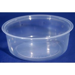 8 oz Semi-Clear Deli Cups - Punched - 50ct (Pro-Kal)