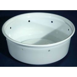 8 oz White Deli Cups - Punched - 100ct (Pro-Kal)