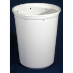 32 oz White Deli Cups - Punched - 50ct (Pro-Kal)