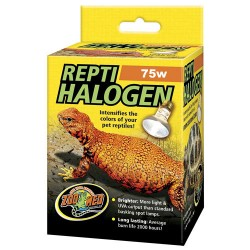 ReptiHalogen Heat Lamp - 75w (Zoo Med)