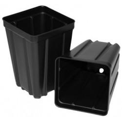 """Black Square Plant Pots - 3.5"""" Deep"""
