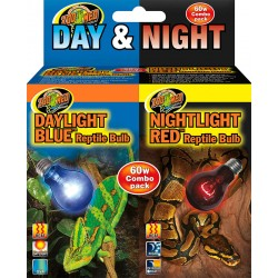 Daylight Blue & Nightlight Red Combo Pack - 60w (Zoo Med)