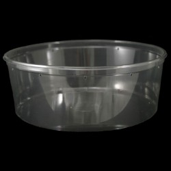 128 oz Clear Deli Cup - Punched (PWP)