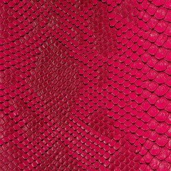 Faux Leather Snakeskin - Fuschia (RSC)