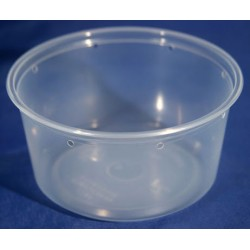 12 oz Semi-Clear Deli Cups - Punched - 25ct (Pro-Kal)
