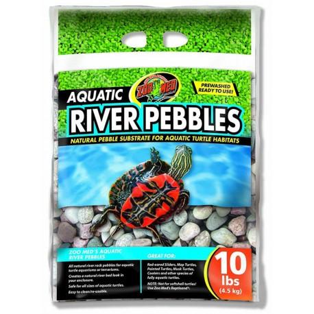 Aquatic River Pebbles - 10 lbs (Zoo Med)