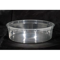 """6.75"""" Clear Deli Cup - 32 oz -Punched (PWP)"""