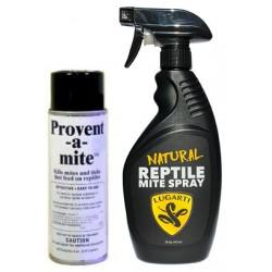 Provent-a-Mite & Natural Reptile Mite Spray Combo - 6 oz / 16 oz